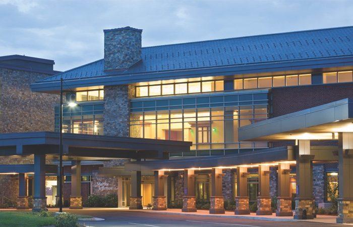 Exterior of Sentara Martha Jefferson Hospital