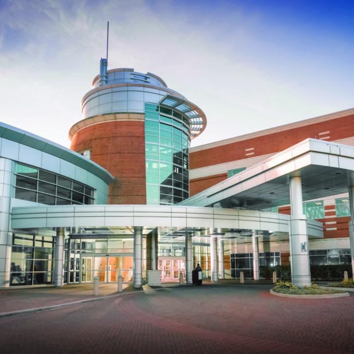 Exterior of Sentara Obici Hospital