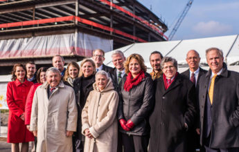 sentara cancer center topping out ceremony